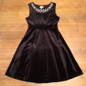 Disney D-Signed Girls Black Jeweled Velour Dress